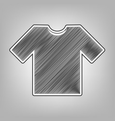 T-shirt sign pencil sketch vector
