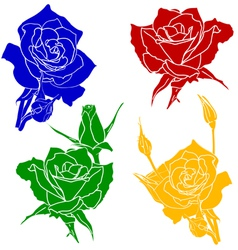 tattoo rose flower vector image