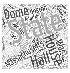 The massachsetts state house word cloud concept vector
