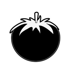 Tomato whole fruit icon image vector
