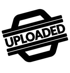 Uploaded black stamp vector