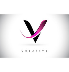 V letter design logo letter icon logo vector