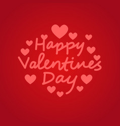 valentines day typography poster with doodle vector image
