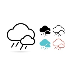 Web cloud icon Web Idea Creative and Weather vector image