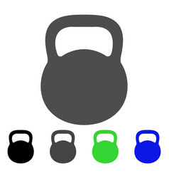 Weight iron flat icon vector