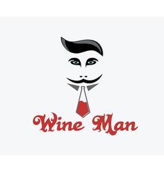 Wine man vector