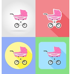 baby flat icons 05 vector image vector image