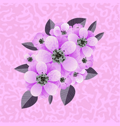 composition of flowers vector image vector image