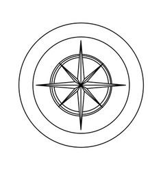 figure symbol compass star icon vector image