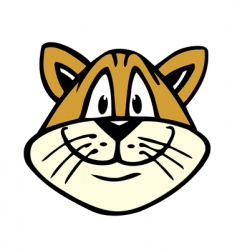 happy cat vector image vector image
