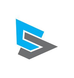 initial s logo vector image