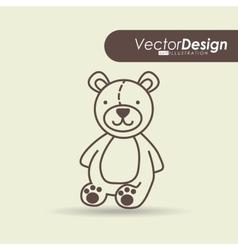 little bear design vector image