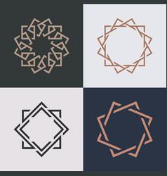 monogram elegant logo icon design vector image
