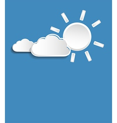 sun and small clouds vector image vector image