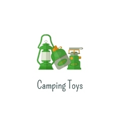 Camping toys flat icon Toys isolated color vector image vector image