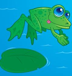 diving frog vector image vector image