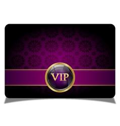 Purple vip card vector image vector image