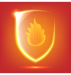 Red glass shield vector image vector image