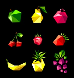 set of fruit vector image vector image
