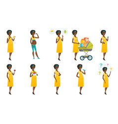 set of with pregnant women vector image vector image