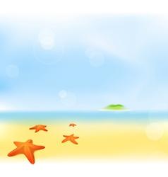 summer sea beach vector image vector image