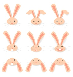 Face Rabbit vector image