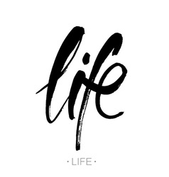 life lettering template vector image vector image