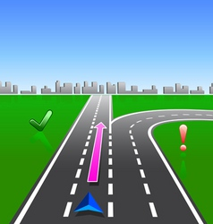 map navigator city streets gps with signs vector image