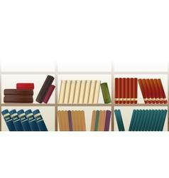 retro bookshelf pattern vector image