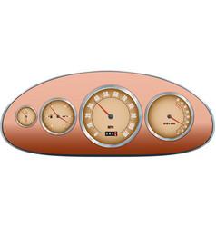 Retro car dashboard vector image