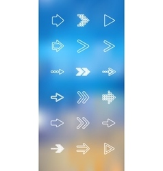 thin icons design set Arrows Moder simple vector image vector image