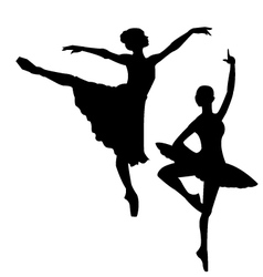 Ballet sihlouettes vector image