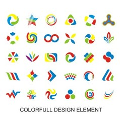 Colorfull Design Element vector image vector image