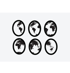 Globe earth icons themes idea design vector image vector image