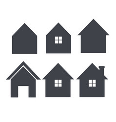 House icon set real estate logo template im vector