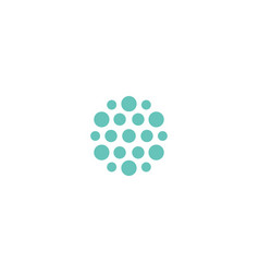 Abstract turquoise flat template logo new vector
