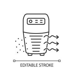 Air purifier linear icon vector