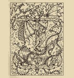 Anchor mystic concept for lenormand oracle tarot vector