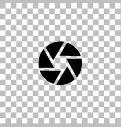 Aperture diaphragm icon flat vector