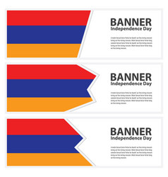 Armenia flag banners collection independence day vector