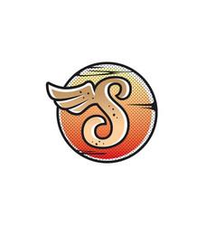 aviator wing sign symbol vector image