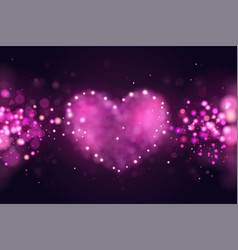 background with pink 3d realistic hearts vector image