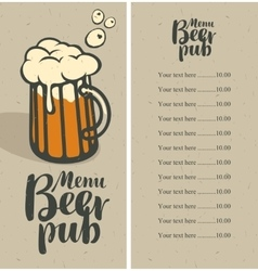 Beer pub menu vector