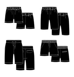 Black shorts vector image