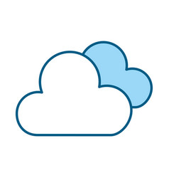 Blue clouds cartoon vector