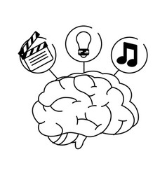 brain idea creativity vector image