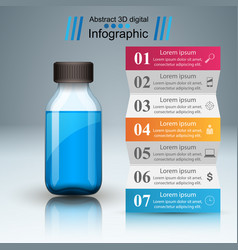 Business infographics medicine bottles recip vector