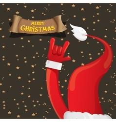 Christmas Rock n roll greeting card vector image