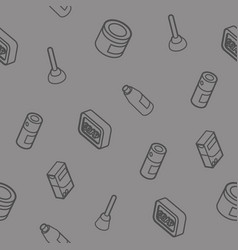 Cleaning outline isometric pattern vector
