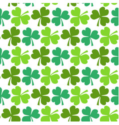 clover seamless pattern st patricks day endless vector image